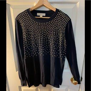 Micheal Kors Long Studded Sweater